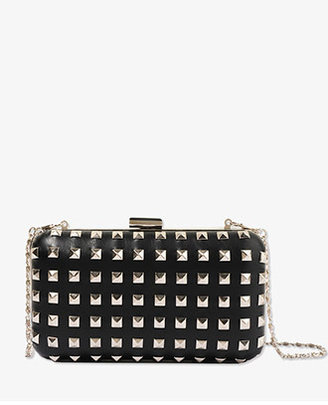 Forever 21 Structured Studded Clutch