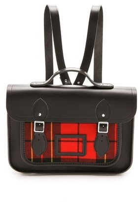 "Cambridge Silversmiths satchel 13"" Tartan Satchel Backpack"