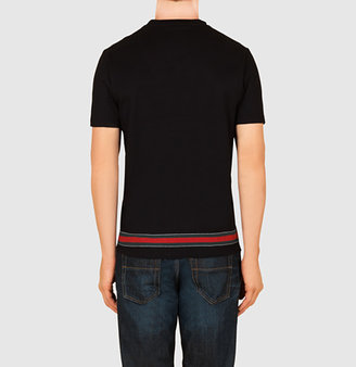Gucci Cotton Jersey T-Shirt With Web Stripe