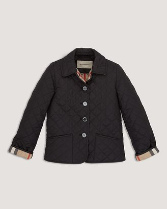 "Burberry Girls' Mini ""Westbury"" Quilted Jacket - Sizes 7-14"