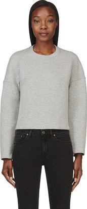 Alexander Wang Grey Neoprene Crewneck Sweatshirt