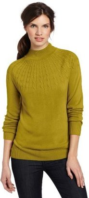 Sag Harbor Women's Sunburst Cashmerlon Sweater