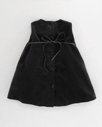 Helena Velvet Pleat-Front Dress, Sizes 2-3T