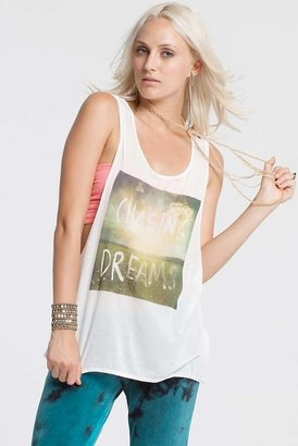 Chaser LA Chasing Dreams Liquid Muscle Tank in White