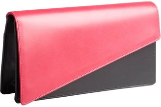 Saint Laurent Pink And Black Leather Fold-Over Clutch