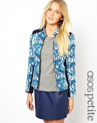 Asos Exclusive Printed Jacket With Panel Detail