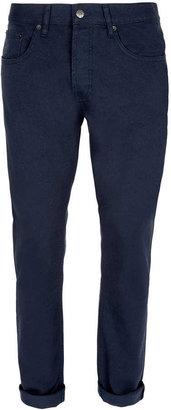 Topman Navy Vintage Slim Jeans