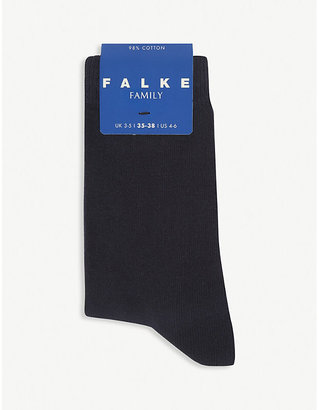 Falke Family cotton-blend socks, Size: 23-26, White