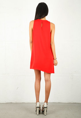 Parker Tiered Dress in Red -