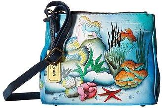 Anuschka Triple Compartment Convertible Tote 525 (Little Mermaid) Cross Body Handbags