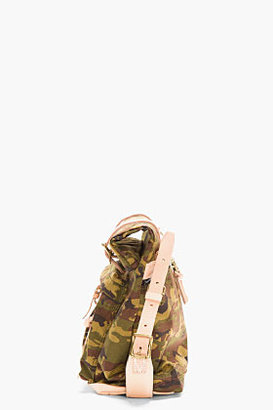 Camo MASTER-PIECE Co Olive Print Leather-Trimmed Roll-Top Surpass Messenger Bag