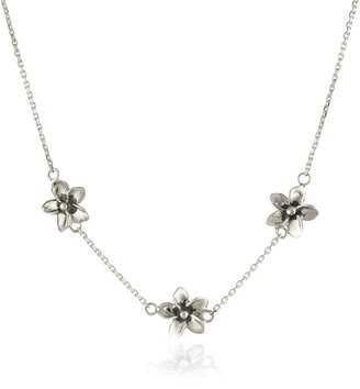 """Zina Sterling Silver """"Hibiscus Collection"""" Hibiscus Necklace"""
