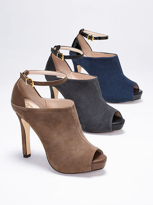 PeepToe VS Collection Ankle-strap Peep-toe Bootie