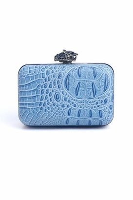 House Of Harlow Marley Clutch in Sky Croco