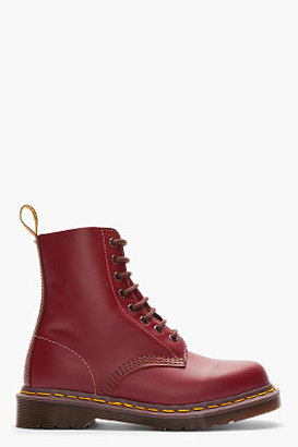 Dr. Martens burgundy Leather 1460 'Made in England' 8-Eye Boots