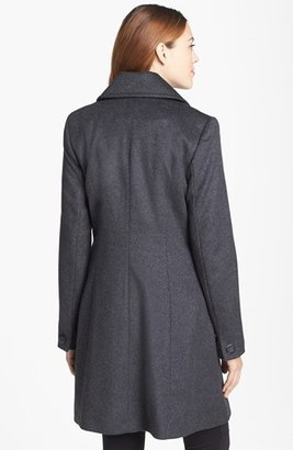 Trina Turk Double Breasted Lambswool & Cashmere Coat