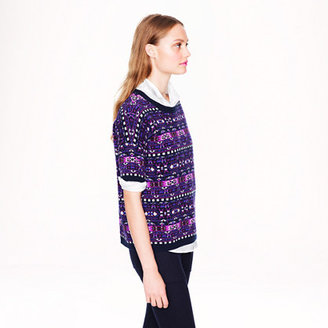 J.Crew Collection cashmere Fair Isle back-zip sweater