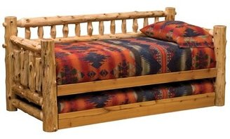 Fireside Lodge Traditional Cedar Log Twin Daybed with Trundle Fireside Lodge