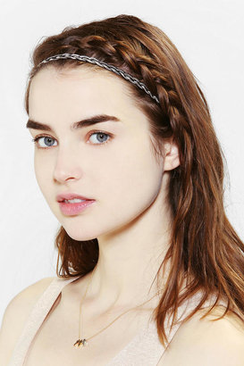 Urban Outfitters Metal Braid Silky Headwrap