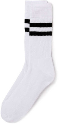 Topman White Stripe Tube Socks