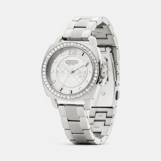 Coach Mini Boyfriend Stainless Steel Crystal Bracelet Watch