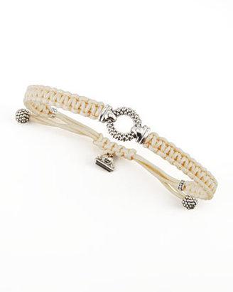 Lagos Sterling Silver Caviar Macrame Bracelet, Tan