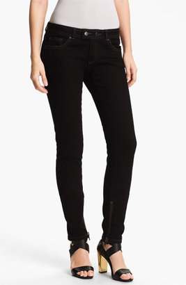 Rachel Zoe 'Julie' Piped Detail Skinny Stretch Jeans