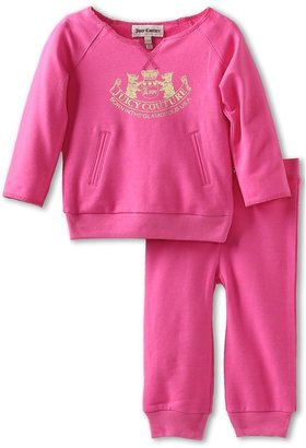 Juicy Couture Knit Tunic Sets 2 Pc Set (Infant) (Fragrant Rose) - Apparel