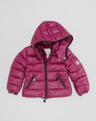 Moncler Bady Quilted Nylon Jacket, Cranberry, Sizes 2-6