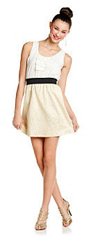 Amy Byer A Byer A. Byer Juniors' Ivory Gold Layered Look