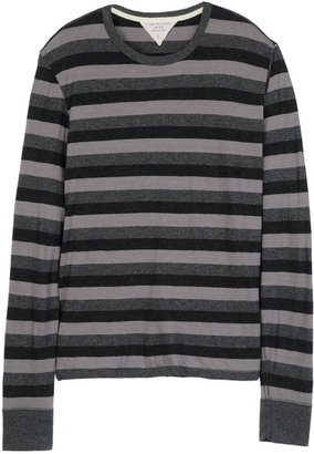 Rag and Bone LS Triple Stripe Tee - Grey Heather