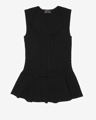 Torn By Ronny Kobo Exclusive Woven Stars Sleeveless Peplum Knit Top