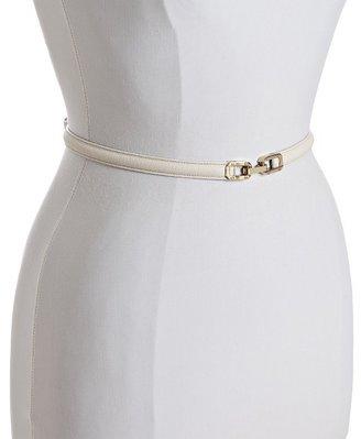 Chloé milk leather skinny belt