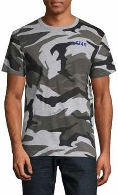 G Star Camo Print Logo Graphic T-Shirt