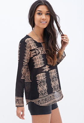 Forever 21 Tribal Print Top