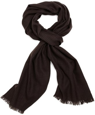 Brooks Brothers Merino Wool Glen Plaid Scarf
