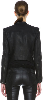 Helmut Lang Wither Leather Jacket in Black