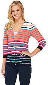 Liz Claiborne New York V-Neck Striped Cardigan $12.69 thestylecure.com