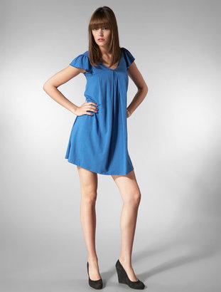 Splendid Cap Flutter Sleeve Dress in Turf