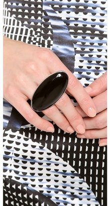 Maison Martin Margiela Silver and Black Ring