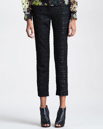 Erdem Slim Metallic-Tweed Trousers