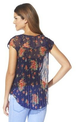Xhilaration Juniors High Low Chiffon Top - Assorted Colors