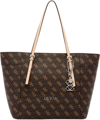 GUESS Delaney Signature Small Classic Tote $88 thestylecure.com