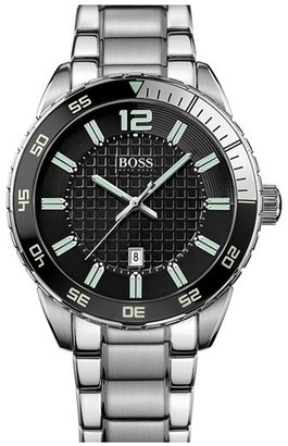HUGO BOSS BOSS 'Deep Blue' Round Bracelet Watch, 46mm