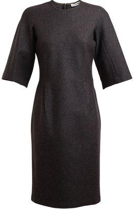 Jil Sander Brushed Wool Pencil Dress