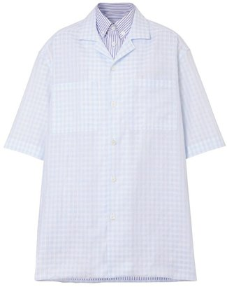 Burberry Striped And Gingham Oversized Double Shirt