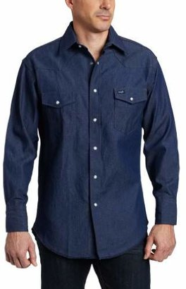 Wrangler Men's Authentic Cowboy Cut Work Western Long Sleeve Shirt