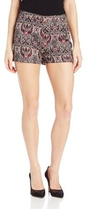 Jack by BB Dakota Women's Jovita Hi-Waisted Paisley Lurex Brocade Short