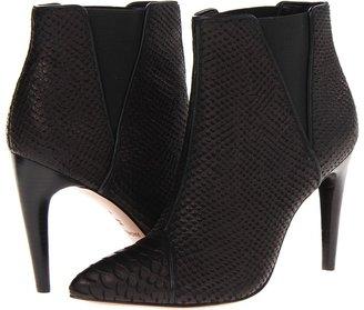Rachel Zoe Fabian (Black Python Embossed Leather) - Footwear