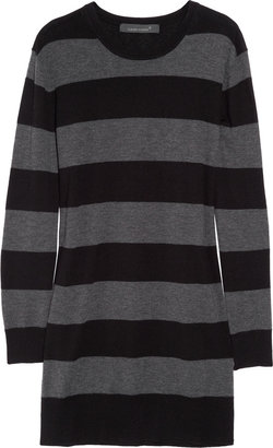 Claudia Schiffer Striped merino wool-blend sweater dress
